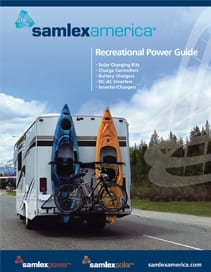 Recreational Power Guide Cover with RV with Two Kayaks on the Back
