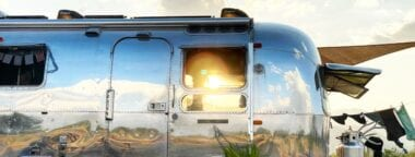 family living off grid in airstream