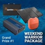 DO MORE with Samlex contest monthly prize weekend warrior package